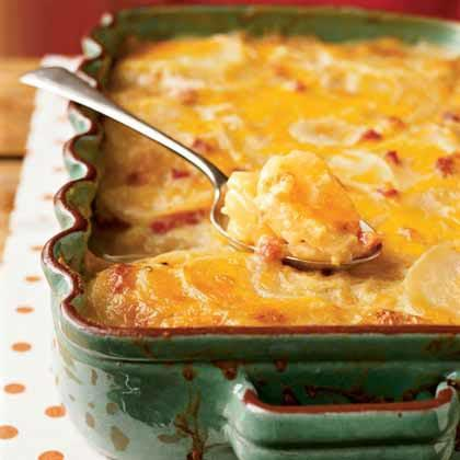 """<p>Have you ever tried to stuff onion or potato slices into a measuring cup? Ingredients like these are best measured by weight. Country Potatoes au Gratin works well as an entrée with a side salad completing the meal. If you prefer to have it as a <a href=""""https://www.myrecipes.com/side-dish-recipes/"""" rel=""""nofollow noopener"""" target=""""_blank"""" data-ylk=""""slk:side dish"""" class=""""link rapid-noclick-resp"""">side dish</a>, it will make 12 servings.</p>"""