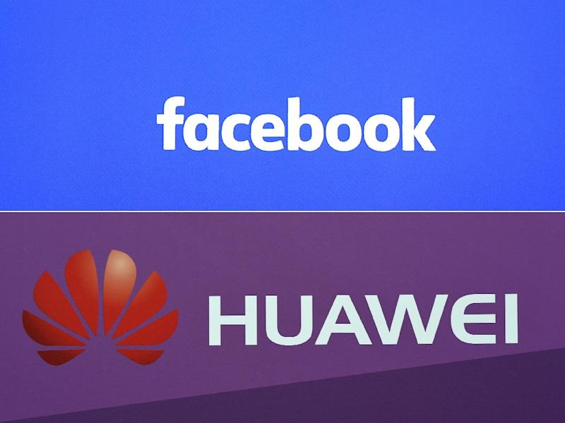 Facebook said its social apps won't be on Huawei devices as a result of US sanctions (AFP Photo/Justin TALLIS, CHRISTOF STACHE)