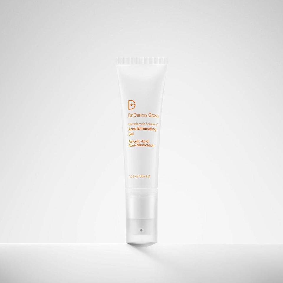 <p>Whether you're dealing with maskne or hormonal breakouts, the <span>Dr. Dennis Gross DRx Blemish Solutions Acne Eliminating Gel</span> ($40) will help clear it up with a blend of two-percent salicylic acid, niacinamide, and monk's pepper. The lightweight gel absorbs quickly and wears well under makeup.</p>