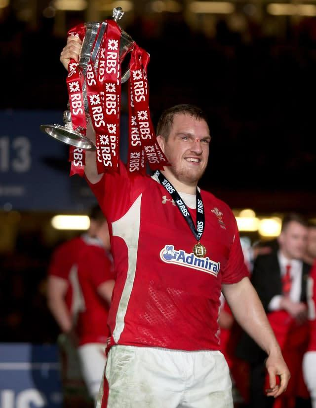 Captain Gethin Jenkin lifted the trophy (David Davies/PA)