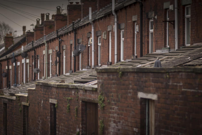 Homes in Bolton as UK property prices slide. Photo: Christopher Furlong/Getty Images
