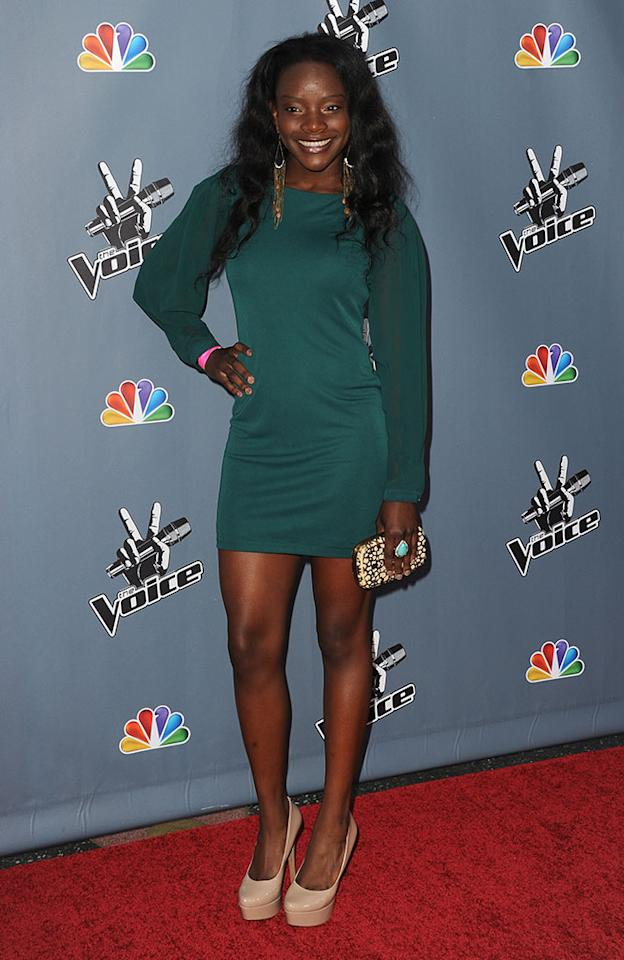 "Adanna Duru arrives at the screening of NBC's ""The Voice"" Season 4 at TCL Chinese Theatre on March 20, 2013 in Hollywood, California."