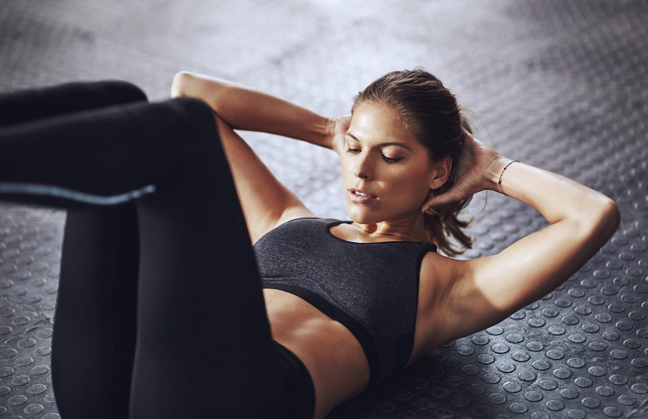 "<p>When we're talking specifically about strengthening and building your ab muscles - not necessarily <em>seeing</em> them – ""it can take anywhere from four to eight weeks, depending on what exercises you're doing and your eating habits,"" said fitness coach <a href=""https://www.instagram.com/nick_leyden/"" target=""_blank"" class=""ga-track"" data-ga-category=""Related"" data-ga-label=""https://www.instagram.com/nick_leyden/"" data-ga-action=""In-Line Links"">Nick Leyden</a>, MS, CSCS. (More on those aspects later.)</p>"