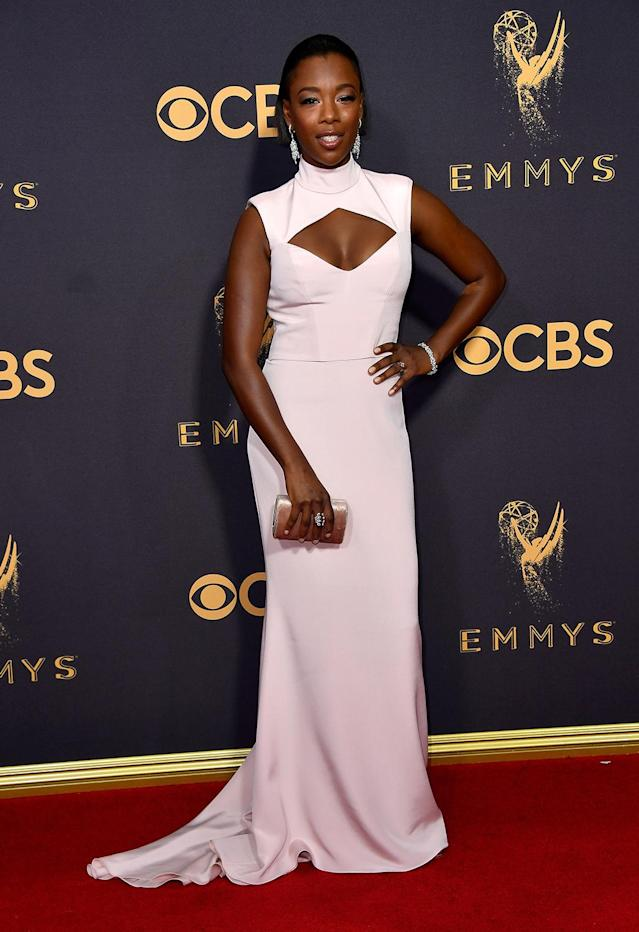 <p>Samira Wiley attends the 69th Annual Primetime Emmy Awards on September 17, 2017.<br> (Photo: Getty Images) </p>