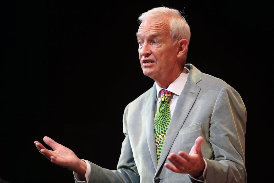 Channel 4 News anchor Jon Snow during a run-through ahead of delivering the 2017 James MacTaggart Memorial Lecture this evening, during the Edinburgh International Television Festival at the Edinburgh International Conference Centre.