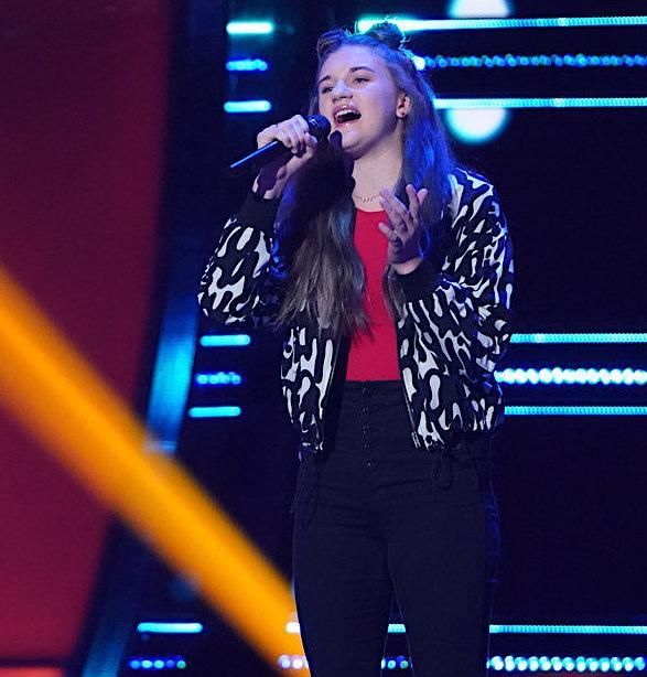 Hailey Green when she tried out for 'The Voice' in Season 19. (Photo: Tyler Golden/NBC)