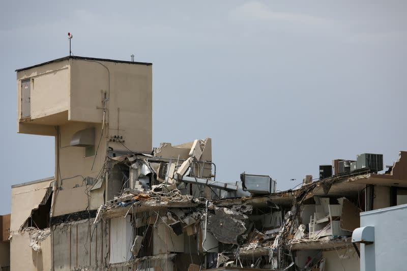 FILE PHOTO: Partial collapse of residential building in Surfside