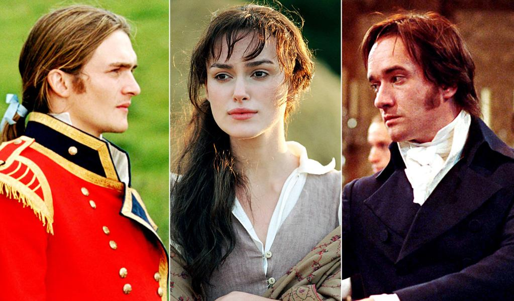 """""""Pride and Prejudice"""": Elizabeth Bennet (Keira Knightley in the 2005 version) is too prejudiced to see the solid character behind proud Mr. Darcy (Matthew Macfadyen) -- and is charmed by the easy-going seducer Mr. Wickham (Rupert Friend). Luckily, she gets a clue before the final curtain."""