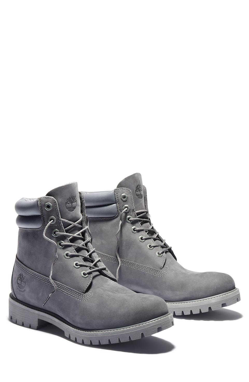 """<p><strong>TIMBERLAND</strong></p><p>nordstrom.com</p><p><a href=""""https://go.redirectingat.com?id=74968X1596630&url=https%3A%2F%2Fwww.nordstrom.com%2Fs%2Ftimberland-6-inch-waterproof-boot-men%2F5914179&sref=https%3A%2F%2Fwww.esquire.com%2Fstyle%2Fmens-fashion%2Fg37002225%2Fnordstrom-anniversary-sale-mens-fashion-deals-2021%2F"""" rel=""""nofollow noopener"""" target=""""_blank"""" data-ylk=""""slk:Shop Now"""" class=""""link rapid-noclick-resp"""">Shop Now</a></p><p><strong>Sale: $124.90</strong></p><p><strong>After Sale: $188.00</strong></p><p>Come the first cold, rainy day of fall, you'll be damn glad you got these.</p>"""