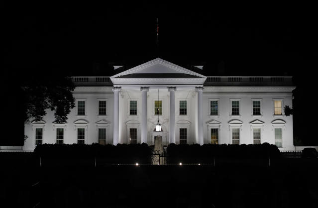 The White House is seen in Washington, Tuesday night, May 9, 2017. (AP Photo/Carolyn Kaster)
