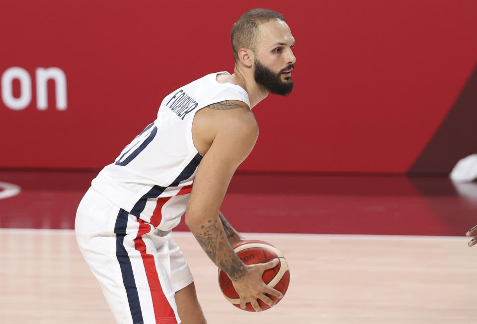 Evan Fournier is currently starring for France in the Tokyo Olympics. (Jean Catuffe/Getty Images)
