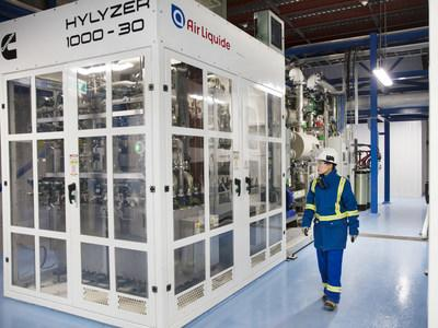 Air Liquide inaugurates the world's largest low-carbon hydrogen membrane-based production unit in Canada (CNW Group/Air Liquide)