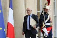 """Suggesting nervousness in Paris, France's ambassador to Washington, Philippe Etienne (pictured June 2018), was """"sent to check out every level in July (2021) -- companies, the NSA (National Security Advisor), the White House -- and he found nothing"""" (AFP/LUDOVIC MARIN)"""