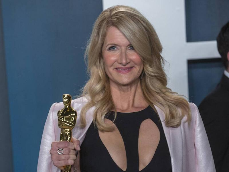 Laura Dern recycles 30-year-old Armani Prive dress for Oscars after-party