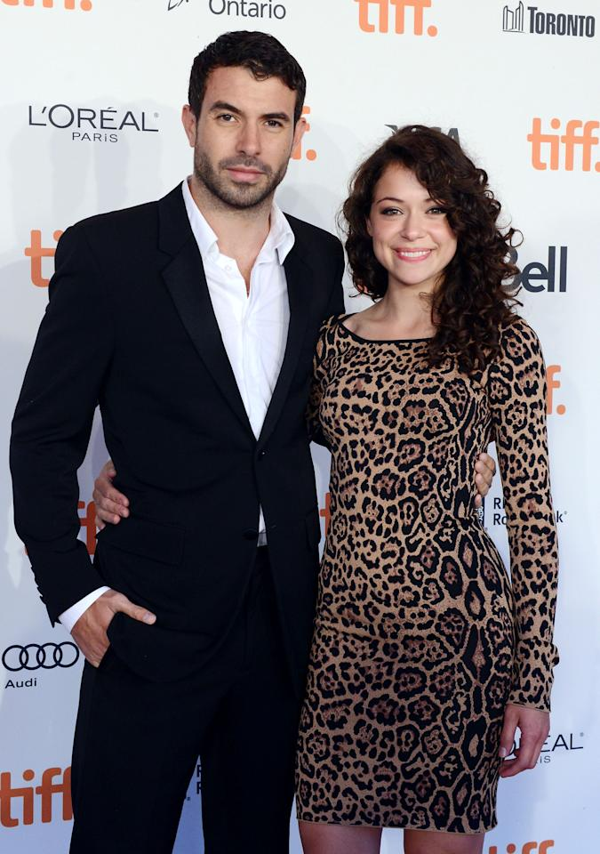 TORONTO, ON - SEPTEMBER 08:  Actors Tom Cullen (L) and Tatiana Maslany attend The Board Gala: The Night That Never Ends during the 2012 Toronto International Film Festival at Corus Quay on September 8, 2012 in Toronto, Canada.  (Photo by Peter Bregg/Getty Images)