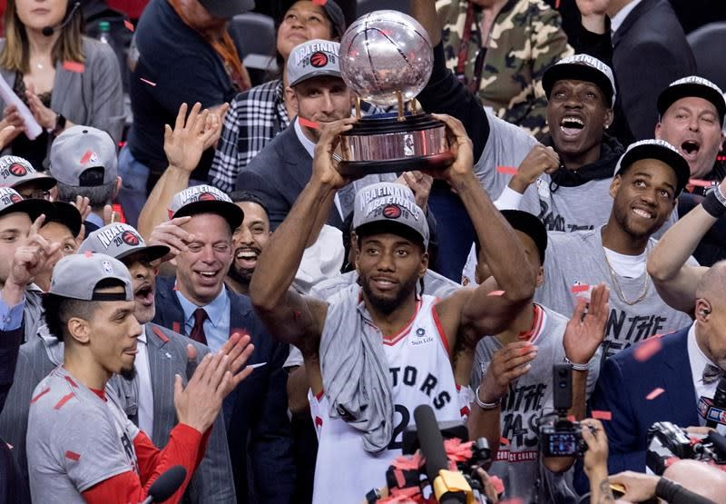 A cipher off the floor, Kawhi Leonard opening up a little in NBA playoffs