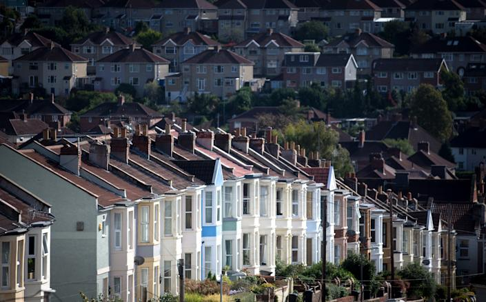 A row of houses in Bristol, England. Photo: Matt Cardy/Getty Images