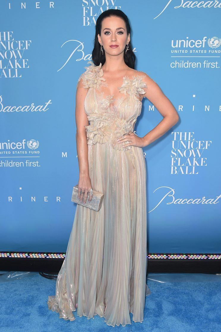 Katy Perry attends the 12th Annual UNICEF Snowflake Ball. (Photo by Michael Loccisano/Getty Images)
