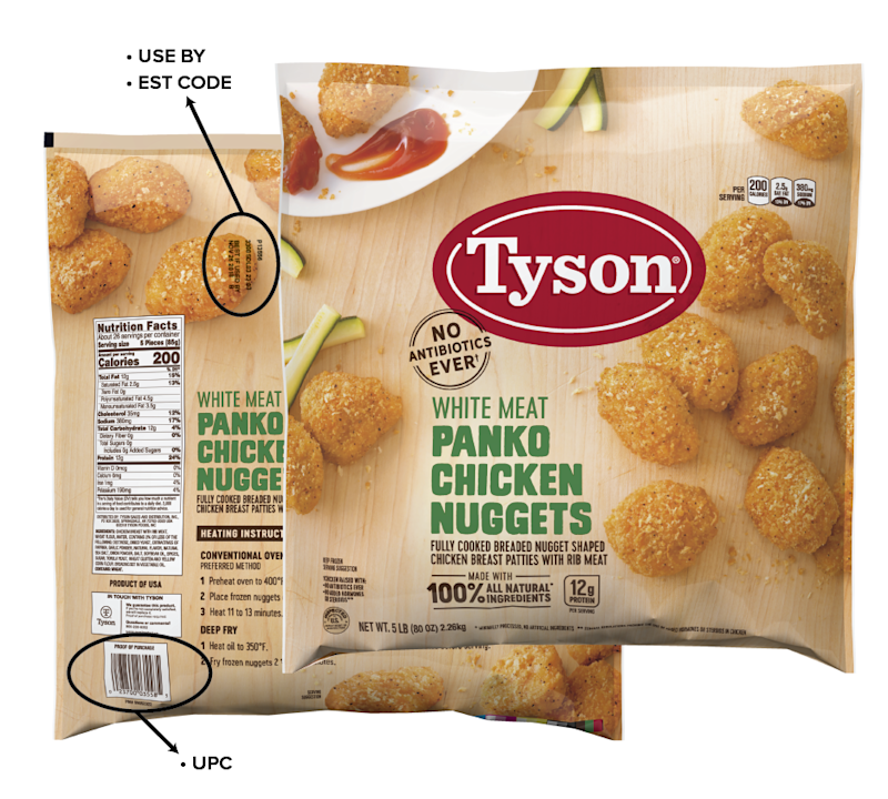 Tyson recalls 18 tons of chicken nuggets