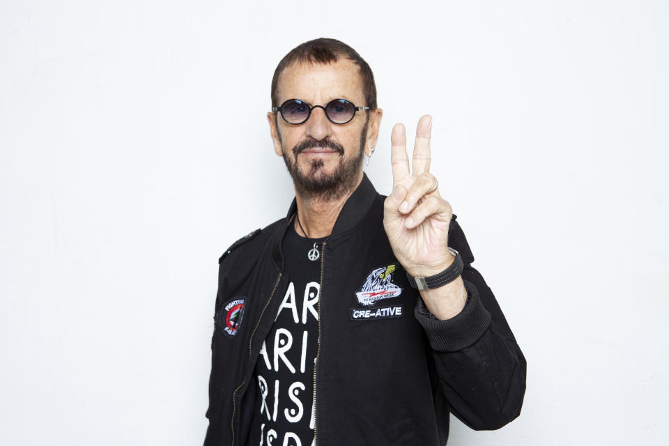 In this Oct. 11, 2019 photo, Ringo Starr poses for a portrait at the Sunset Marquis in Los Angeles. (Photo by Rebecca Cabage/Invision/AP)