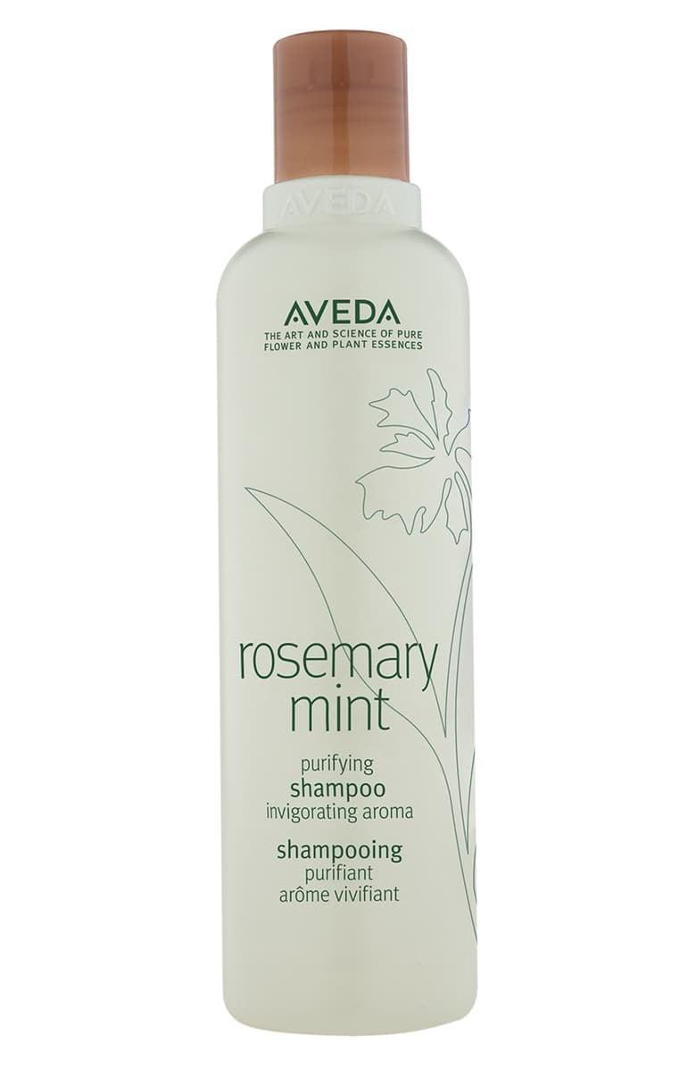 <p>The refreshing <span>Aveda Rosemary Mint Purifying Shampoo</span> ($19) is 97 percent naturally derived and gently cleanses your hair without removing moisture.</p>
