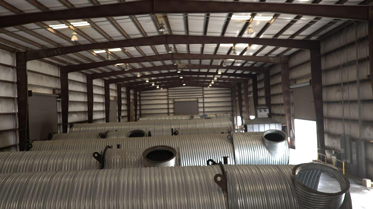 A look at bunkers in a warehouse. (Photo: Yahoo Finance)