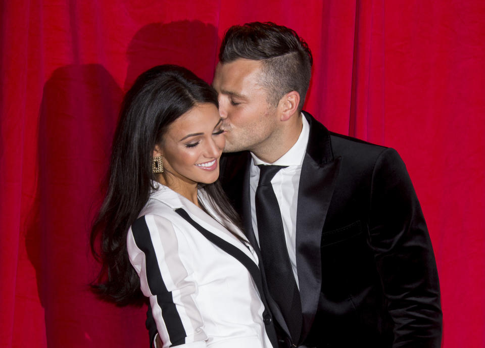 Michelle Keegan and Mark Wright attend the British Soap Awards at Hackney Empire on May 24, 2014 in London, England.  (Photo by Mark Cuthbert/UK Press via Getty Images)