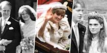 """<p>One of Princess Diana's most frequently worn <a href=""""http://people.com/royals/princess-dianas-spencer-tiara-history-and-photos/"""" rel=""""nofollow noopener"""" target=""""_blank"""" data-ylk=""""slk:tiaras"""" class=""""link rapid-noclick-resp"""">tiaras</a> came straight from her family. Diana wore the piece during her wedding to Prince Charles, but it was also worn by both her sisters on <em>their</em> wedding days (peep Lady Sarah Spencer on the left), as well as by her sister-in-law Victoria Lockwood (right) on her wedding day.</p>"""