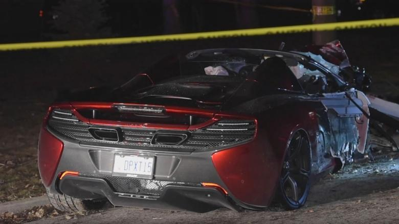 $300,000 McLaren sports car destroyed in crash, driver charged