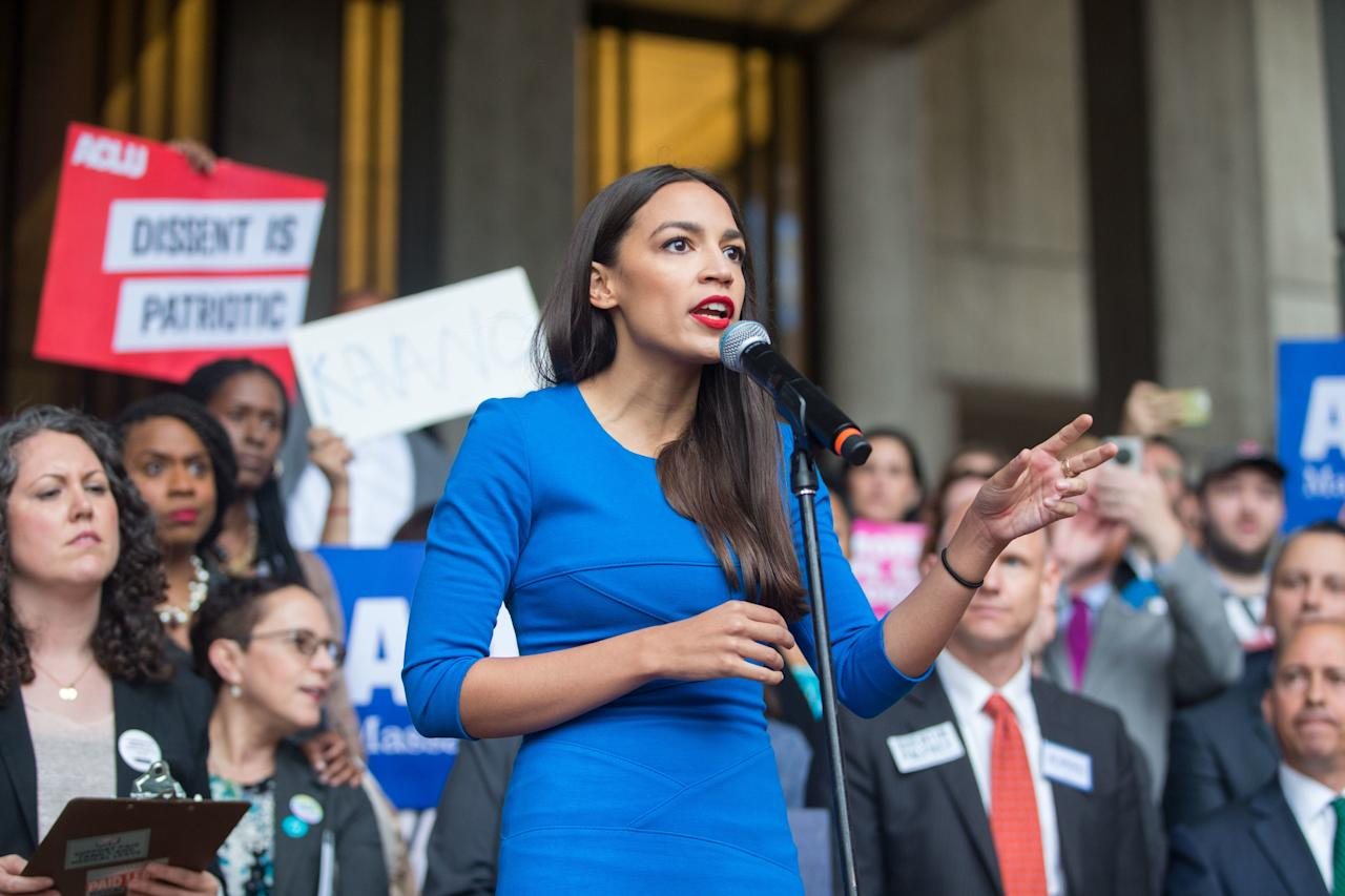"""<a rel=""""nofollow"""" href=""""https://www.glamour.com/story/facts-alexandria-ocasio-cortez-democratic-primary-new-york?mbid=synd_yahoo_rss"""">Ocasio-Cortez</a>, as mentioned, just became the youngest person ever elected to Congress. The millennial first made headlines during her primary win over a long-time incumbent Democrat with a socialist, progressive platform, and has been making waves ever since."""