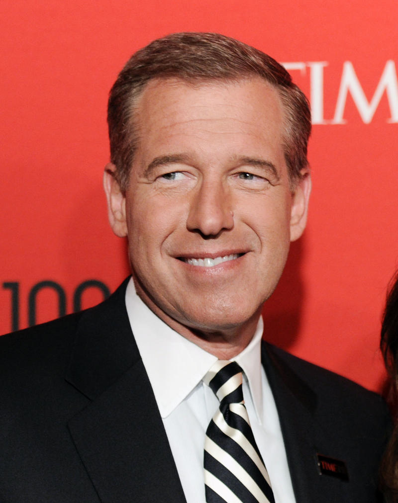 FILE - In this April 24, 2012 file photo, NBC News anchor Brian Williams attends the TIME 100 gala, celebrating the 100 most influential people in the world, in New York. Williams will be off the air for a few weeks soon for surgery to replace a knee that was damaged in a high school football game decades ago. (AP Photo/Evan Agostini, File)