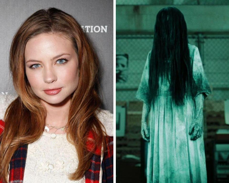 """<p>As it turns out, actress Daveigh Chase is really good at being a creepy kid. So good, in fact, that <em>The Ring</em> currently stands as one of the <a href=""""https://www.redbookmag.com/life/g34099405/highest-grossing-horror-remakes/"""" rel=""""nofollow noopener"""" target=""""_blank"""" data-ylk=""""slk:highest-grossing horror movie remakes"""" class=""""link rapid-noclick-resp"""">highest-grossing horror movie remakes</a> of all time. At the time of filming, Chase was roughly 11-years-old. Since then, she went on to voice the role of Lilo in the animated show, <em>Lilo & Stitch: The Series</em>, and has also appeared in <em>Big Love</em>, among many other projects. </p>"""