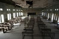 The school was shutdown after the attack when gunmen arrived in the early morning