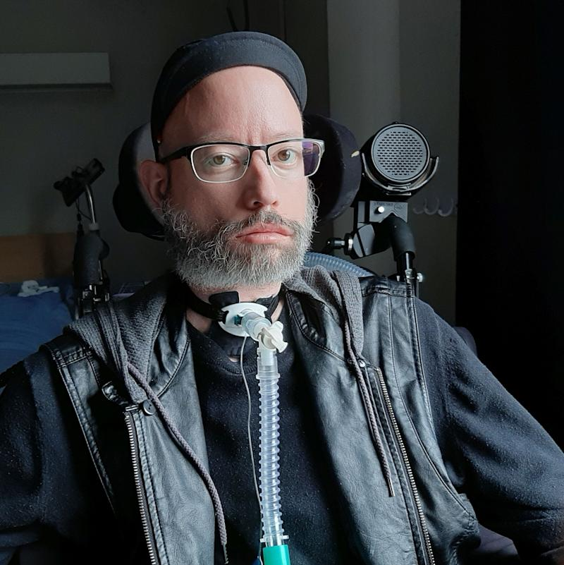 Disability activist Jonathan Marchand lives in a long-term care home outside Quebec City. (Photo: Jonathan Marchand)