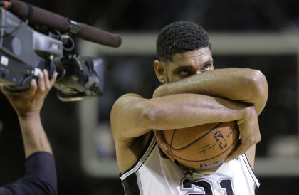 Tim Duncan's love for the game was always on display. (AP)