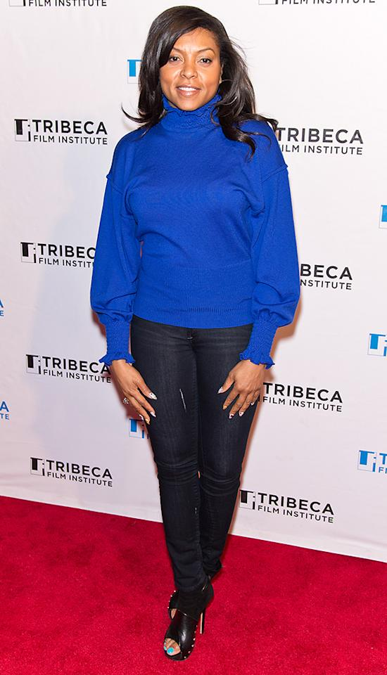 Taraji P. Henson attends Tribeca Teaches during the 2013 Tribeca Film Festival at BMCC Tribeca PAC on April 23, 2013 in New York City.