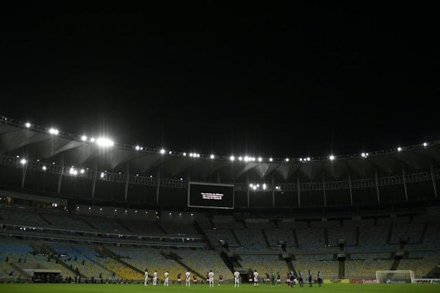 The Maracana stadium in Rio de Janeiro during a game between Flamengo and Bangu on June 18, 2020 (AFP Photo/MAURO PIMENTEL)