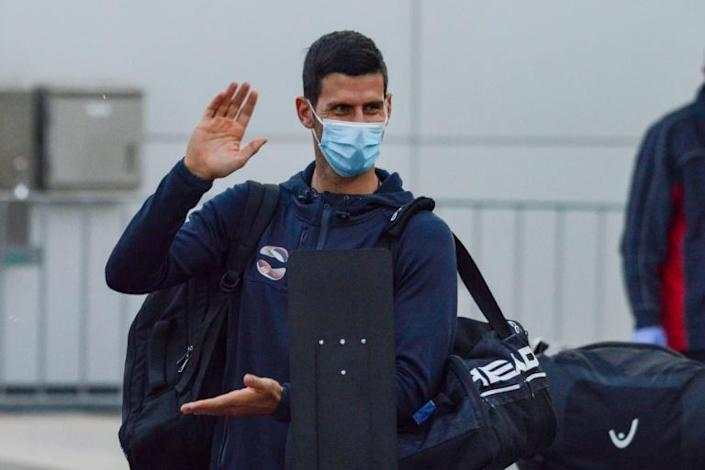 World number one Novak Djokovic arriving in Adelaide where he will quarantine ahead of his Australian Open defence next month