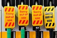 The Petrol Retailers Association said almost half of the UK's 8,000 petrol stations had run out of fuel on Sunday (AFP/Paul ELLIS)