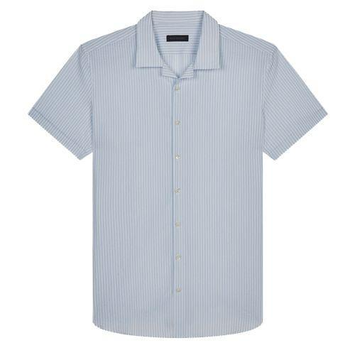 """<p><a class=""""link rapid-noclick-resp"""" href=""""https://thomsweeney.com/collections/shirts-ss21/products/camp-collar-seersucker-shirt-sky-white?variant=39297317961816"""" rel=""""nofollow noopener"""" target=""""_blank"""" data-ylk=""""slk:SHOP"""">SHOP</a></p><p>""""A sharp staple from Thom Sweeney. This sky blue striped camp collar shirt is made in Italy out of 100% cotton seersucker with mother of pearl buttons. For when you want to take your meetings by the pool.""""</p><p><strong>Finlay Renwick, Deputy Style Editor</strong></p><p> £260, <a href=""""https://thomsweeney.com/collections/shirts-ss21/products/camp-collar-seersucker-shirt-sky-white?variant=39297317961816"""" rel=""""nofollow noopener"""" target=""""_blank"""" data-ylk=""""slk:thomsweeney.com"""" class=""""link rapid-noclick-resp"""">thomsweeney.com</a></p>"""