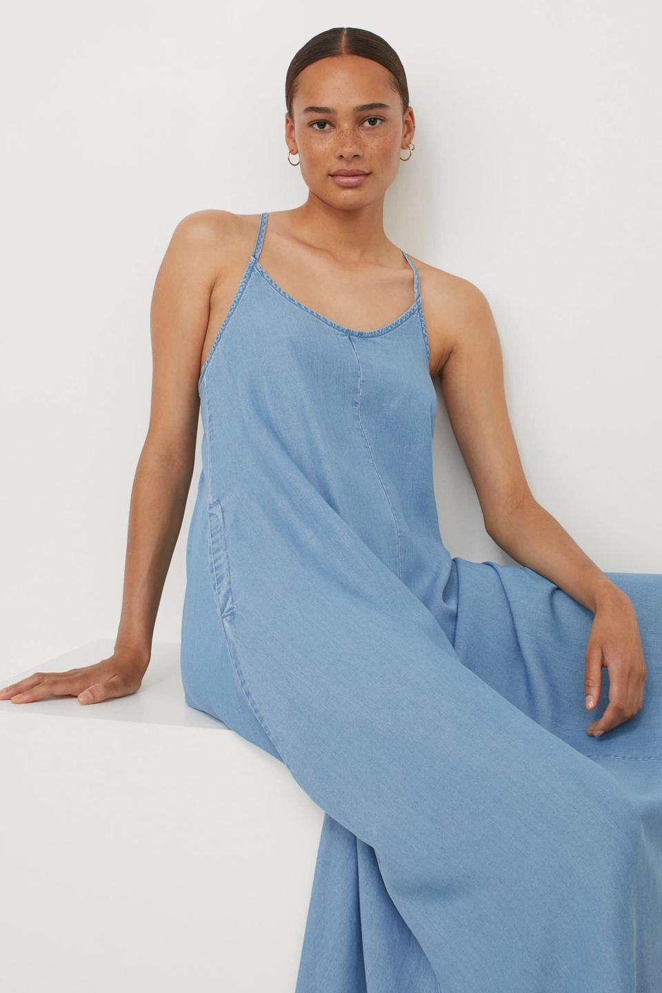 <p>This flowy <span>H&amp;M Wide-cut Lyocell Dress</span> ($40) is perfect for hot days. </p>