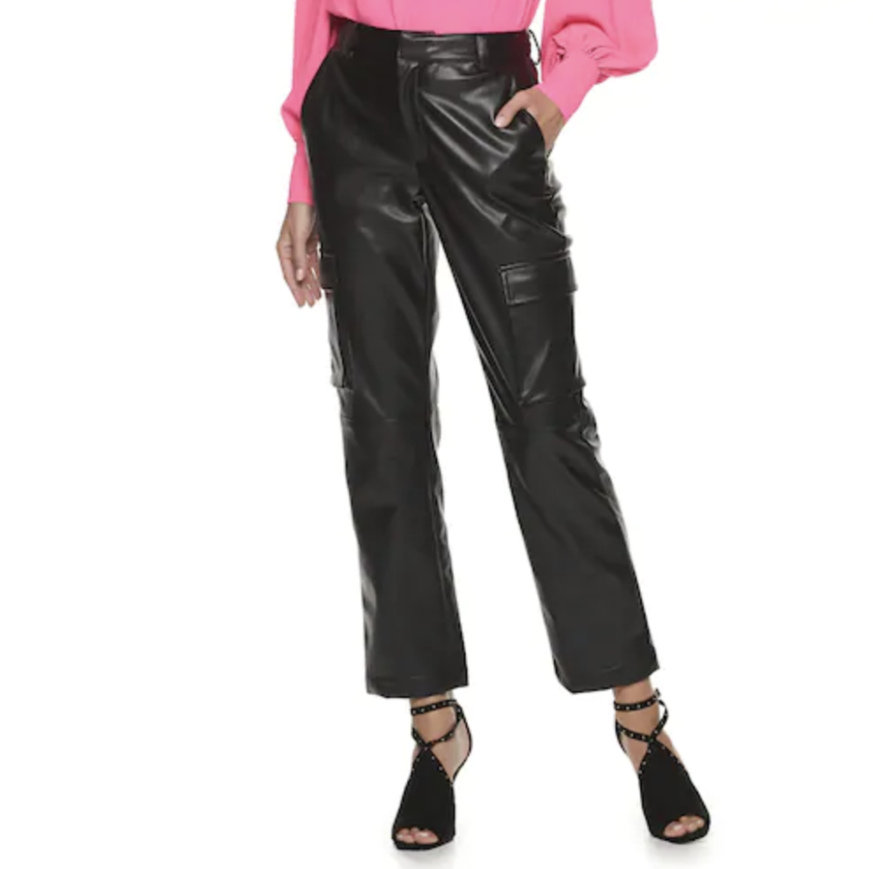 These cargo pants look great with bodysuits, chunky knits, and even T-shirts! (Photo: Kohl's)