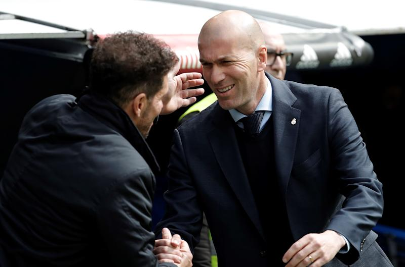 Zinedine Zidane's Real Madrid have fared well recently in La Liga against rivals Diego Simeone and Atletico Madrid. (Getty)