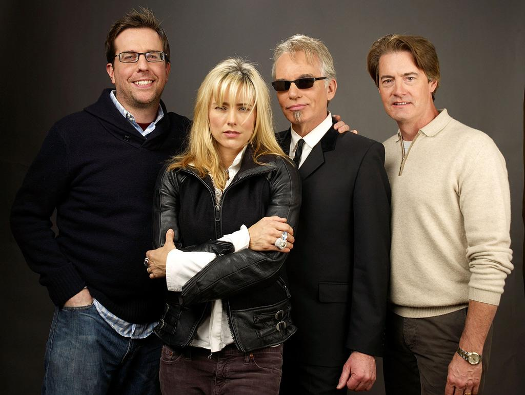 """<a href=""""http://movies.yahoo.com/movie/contributor/1809704692"""">Ed Helms</a>, <a href=""""http://movies.yahoo.com/movie/contributor/1800021189"""">Tea Leoni</a>, <a href=""""http://movies.yahoo.com/movie/contributor/1800018605"""">Billy Bob Thornton</a> and <a href=""""http://movies.yahoo.com/movie/contributor/1800039100"""">Kyle MacLachlan</a> at the Sundance Film Festival portrait session for <a href=""""http://movies.yahoo.com/movie/1810036432/info"""">Manure</a> - 01/20/2009"""