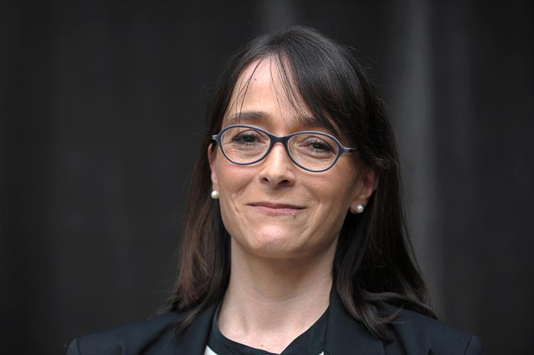 Delphine Ernotte, alors directrice exécutive d'Orange, à Paris le 17 mars 2015