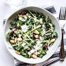 <p>Bagged salad and slaw blends are great shortcut ingredients for adding variety without needing to wash and chop lots of different vegetables. Toss a kale-and-broccoli slaw mix with canned white beans and yogurt-based green goddess dressing for a crunchy main-dish salad in minutes.</p>
