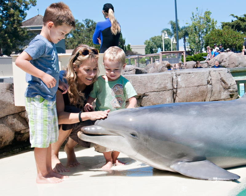 Sheryl Crow and her sons Wyatt Crow and Levi Crow at SeaWorld San Diego on July 26, 2012 in San Diego, California. (Photo by Mike Aguilera/SeaWorld San Diego via Getty Images)