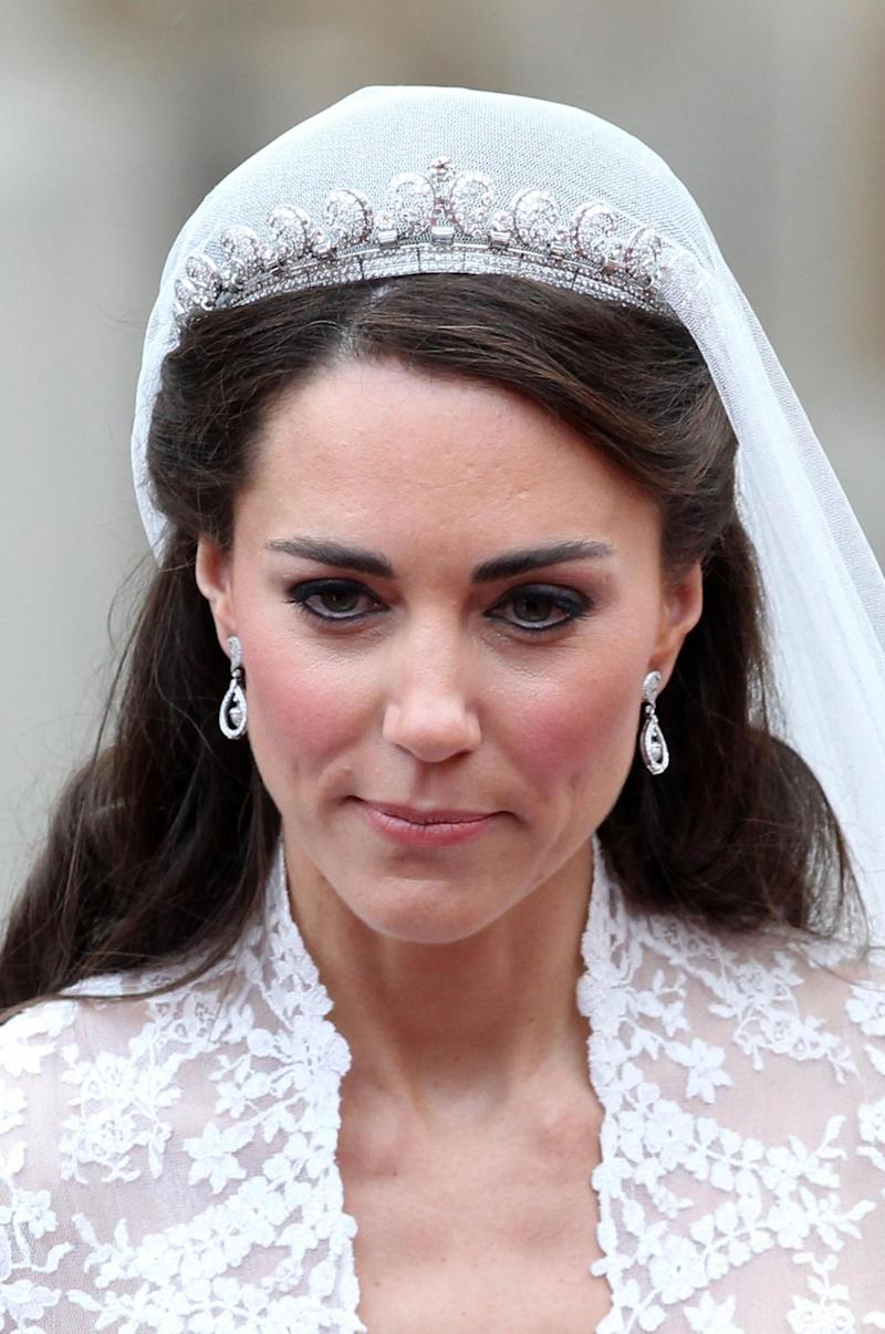 The Duchess of Cambridge on her wedding day in 2011 (Getty Images)