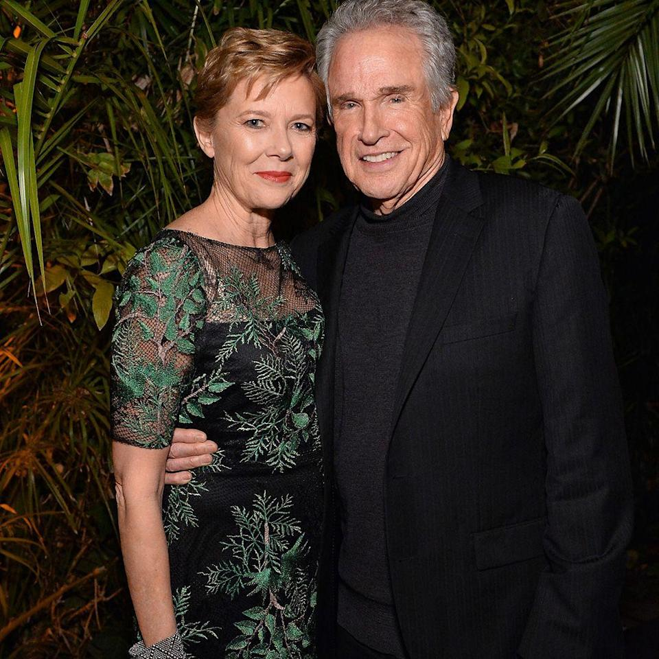 """<p><strong>Age gap: </strong>21 years </p><p>Warren was a known womanizer when he first started dating Annette, but he told <a href=""""http://people.com/movies/inside-annette-bening-warren-beatty-marraige/"""" rel=""""nofollow noopener"""" target=""""_blank"""" data-ylk=""""slk:People"""" class=""""link rapid-noclick-resp""""><em>People</em></a> he was smitten with her immediately. The couple, who are 21 years apart in age, married in 1992. They have four kids together.</p>"""