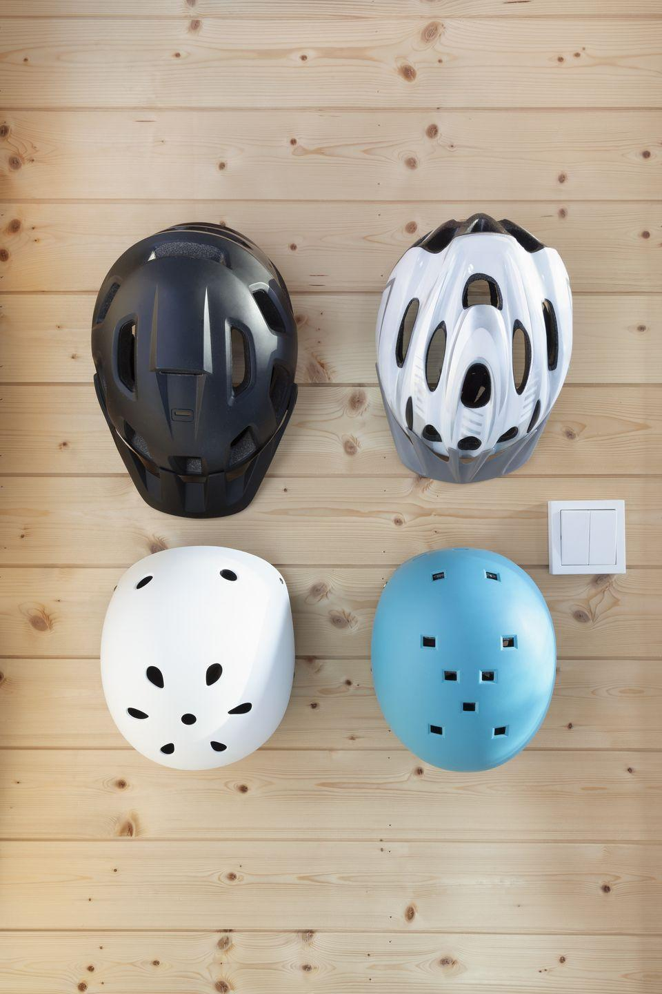 """<p>It's essential to wear a helmet when riding a bike or motorized vehicle, but in order to keep up with safety standards, most experts <a href=""""https://off.road.cc/content/feature/when-should-you-replace-your-bicycle-helmet-1280"""" rel=""""nofollow noopener"""" target=""""_blank"""" data-ylk=""""slk:recommend replacing them"""" class=""""link rapid-noclick-resp"""">recommend replacing them</a> every three to five years. Even if you find what <em>appears</em> to be an unused helmet at a secondhand shop, there's no way of telling when it was made.</p>"""